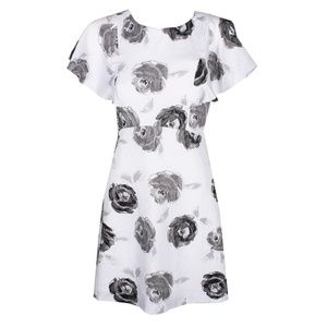 Kensie A Line Floral Lined Mini Dress NWT
